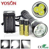 Rotable Switch 3 Work Modes 3PCS CREE XML-L2 Diving Torch Light
