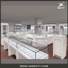de vidrio de joyería mostrador de la tienda de muebles y