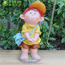 "NEW Resin Cartoon Statue "" Little Boy After School"""