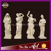 Hand Carved Four Seasons Garden Marble Statue