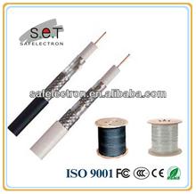 Alta qualidade 75ohm cabo Coaxial RG6 305 M / carretel de madeira