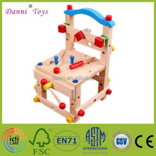 Factory Sale Kids Wooden Chair Educational DIY Toy