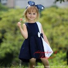 brillante con todas las funciones Gaomi telas de seda suave con el arco alta calidad del verano vestido de niña Fancy ropa