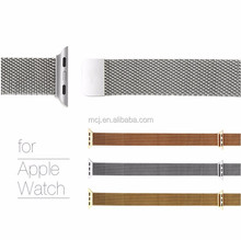 316L Stainless Steel Mesh Watch Band Strap for Apple Watch 38mm and 42mm