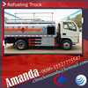 Dongfeng 4*2 95hp 4000-5000 liter European standard used petrol station fuel dispenser petrol and diesel dispenser truck