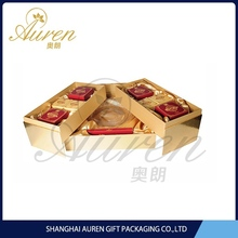 Logo design paper jewellery set box high end
