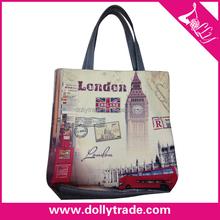London nostalgic style Canvas Gray hand bags
