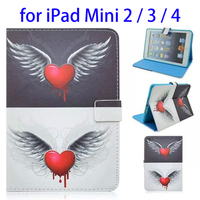 2015 New Flip Leather Case for Apple iPad mini 2 / 3 / 4 with Holder & Card Slots