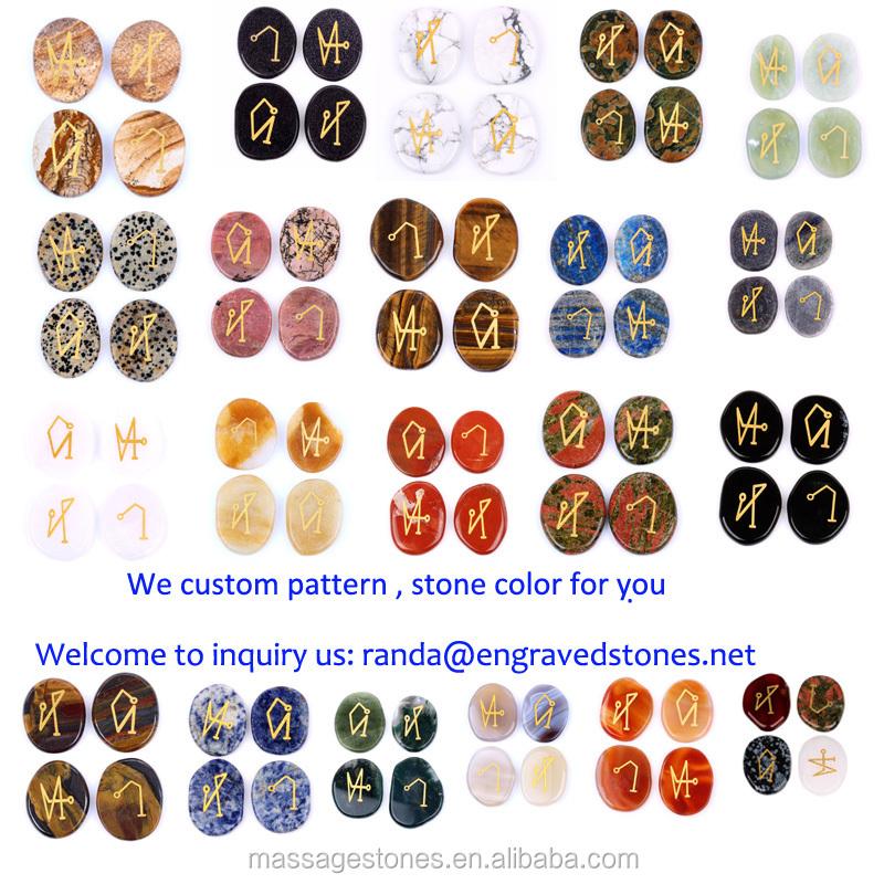 Assorted Gemstone Engraved With 4 Archangels Symbols Buy Archangel
