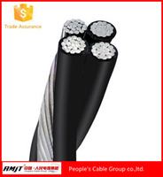 Overhead transmission power wire lines aerial bundle cable 3 core Periwinkle Conch Neritina triplex abc cable