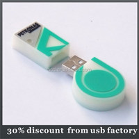 very popular 8GB custom shape usb flash pvc