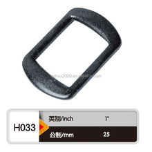 hot sell eco-friendly & high quality black plastic d ring made by Chinese manufacture/ plastic d ring