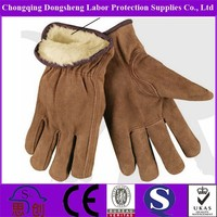 GENUINE COW LEATHER TOP HIGH CLASS QUALITY WORKING GLOVES WITH SEA TIGER LINING WINTER PROTECTION