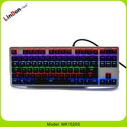 USB Interface Type and Standard Ergonomics Style professional gaming keyboard