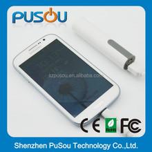 Shenzhen Pusou Cheap pen shaped promotional power bank 2600mah for cellphone