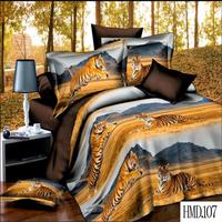100% polyester 3d animal prints bed sheet set luxury king size 3d bedding set manufacturer cheap duvet cover bedding set