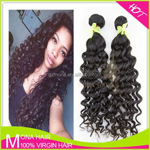 Guangzhou hair supplier raw unprocessed virgin indian hair extension