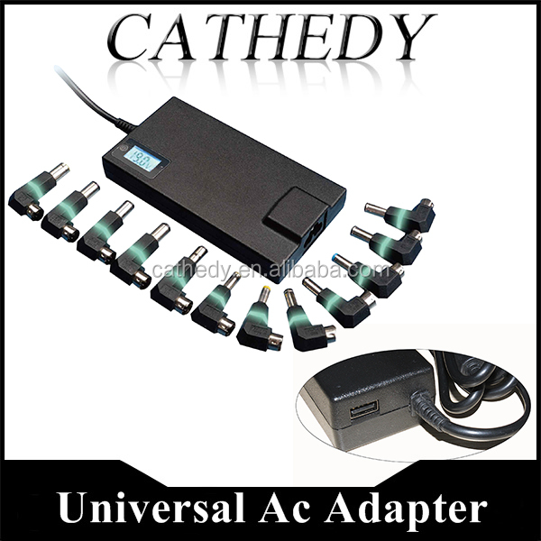 Slim 90w 100W Universal Laptop Adapter With USB Port 5V2A for Mobilephone,12tips with LED light Automatic Identification