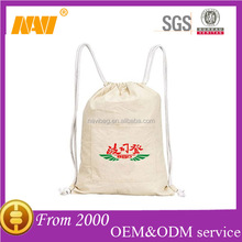 100% natural organic cotton drawstring bag