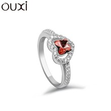 OUXI Genuine 925 Sterling Silver Ring , Lateset Design Wholesale Silver Jewelry 70022