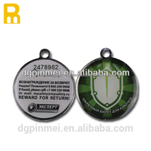 2015 printable pet id tags laser engraved qr code pet tags id code collar tags