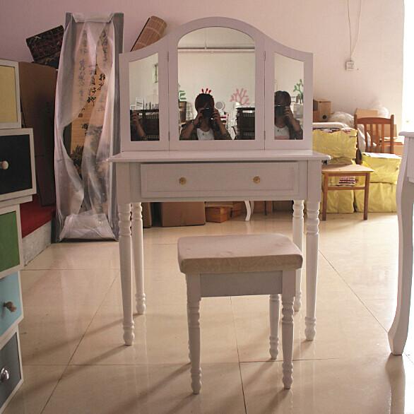 Elegante de madera lacado en blanco muebles del dormitorio - Pintar muebles de madera en blanco lacado ...