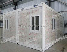 Quick assemble prefab low cost 20ft living container house