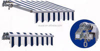 Aluminum retractable aluminum awning and louver