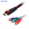 Standard 2.5M audio video to 3 rca vga cable for tv
