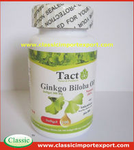 GMP Certified Halal Ginkgo Biloba extract softgel capsule private label/contract manufacturer