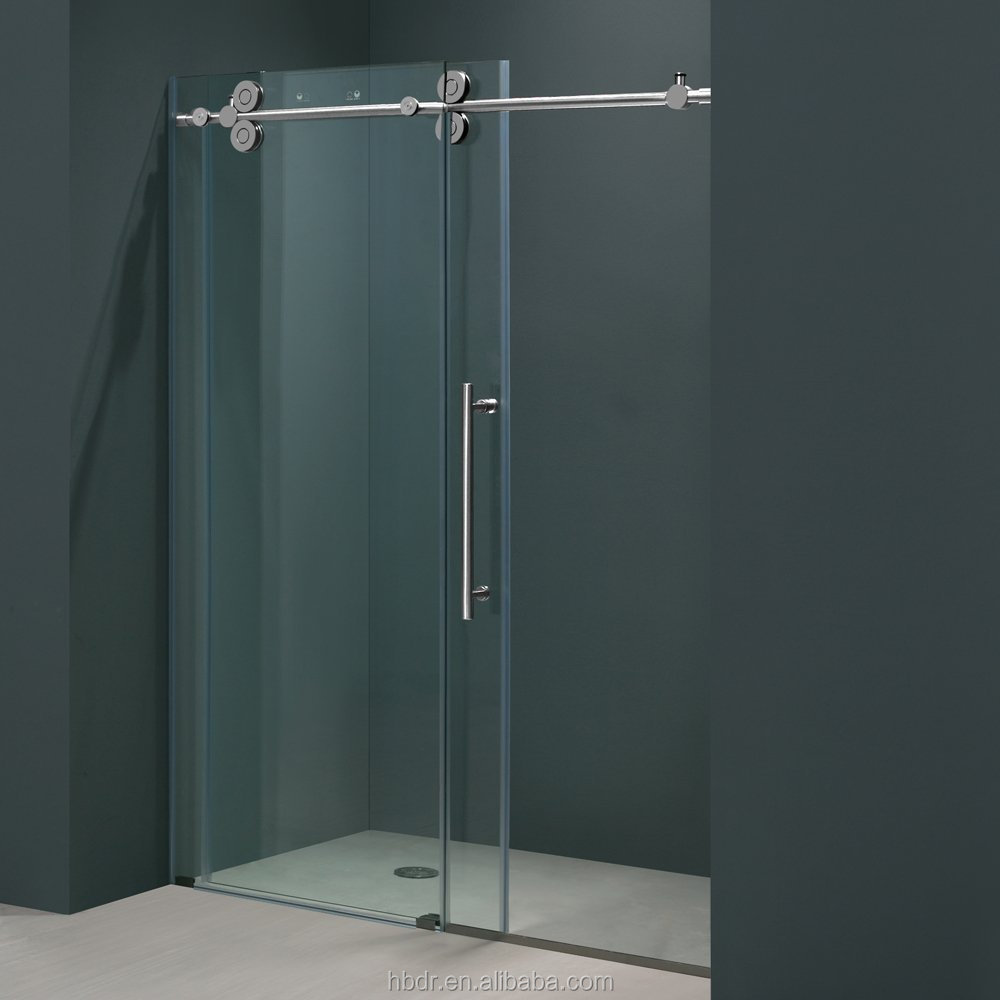 Hot sell self cleaning bathroom sliding shower doors for Cheap sliding glass doors