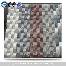 Wave shape natural culture stone wall tile