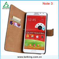 Business Style Wallet Card Holder Flip Leather Case for Samsung Galaxy Note 3, for Galaxy note 3 Wallet Flip Genuine Leather Cas