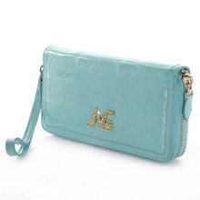 Optical Maser PU Leather With Card Slots Hand Strap & Golden Chain Multifunctional Mobile Phone Bags&Cases For iPhone 6/6 Plus