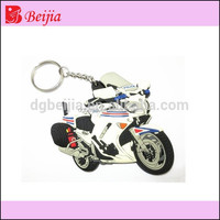 Custom silicone 3d soft pvc key chain motorcycle keychain