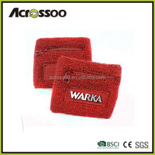 Wholesale designed embroidered cotton towel card holder wristband