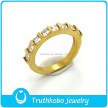 TKB-R0045 Fashion Female Diamond Gold Ring Patterns