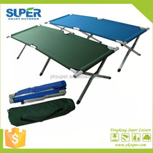 Aluminim folding camping bed for army