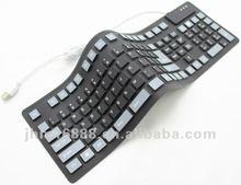 108 tuşları birleştirici silikon klavye