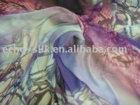 strech flower Silk Chiffon Fabric in digital print
