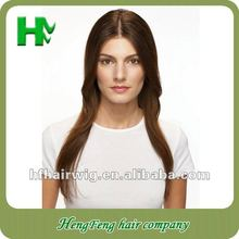 Long wavy wig synthetic fashion brown stright wig brown stright long wavy wig