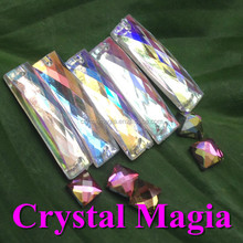 rectangle acrylic rhinestone neon color sew on stones