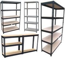 5 tier scaffalature in metallo cromato per garage