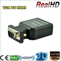 Top selling product economic metal case full HD mini vga 2 hdmi converter/hdmi adapter