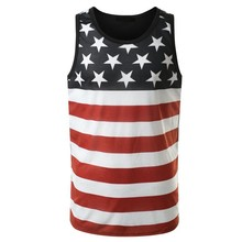 american flag tank top men summer