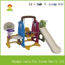 Kids play toys plastic swing and slide set