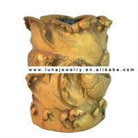Brass Arowana Fish Statue, fish pen holder