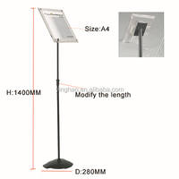 adjustable acrylic poster stand