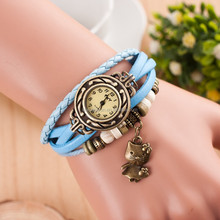 New Fashion Geneva High Quality Brand Watches Cute Cat Charms Leather Watch Quartz Wristwatches as gift for women girls
