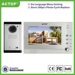 """China supplier wholesales 7"""" wired home security intercom system door lock with doorbells for households/apartments"""